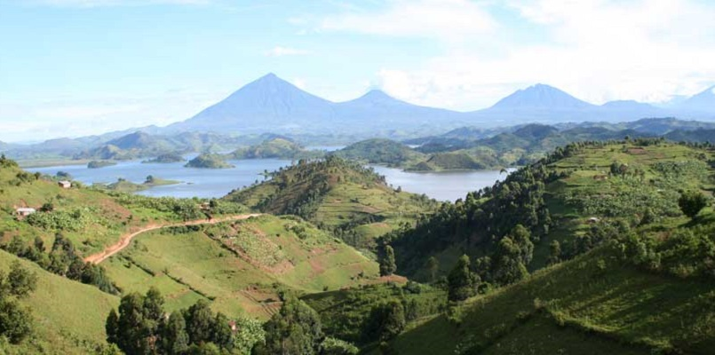 Scenérie - národní parku Mgahinga