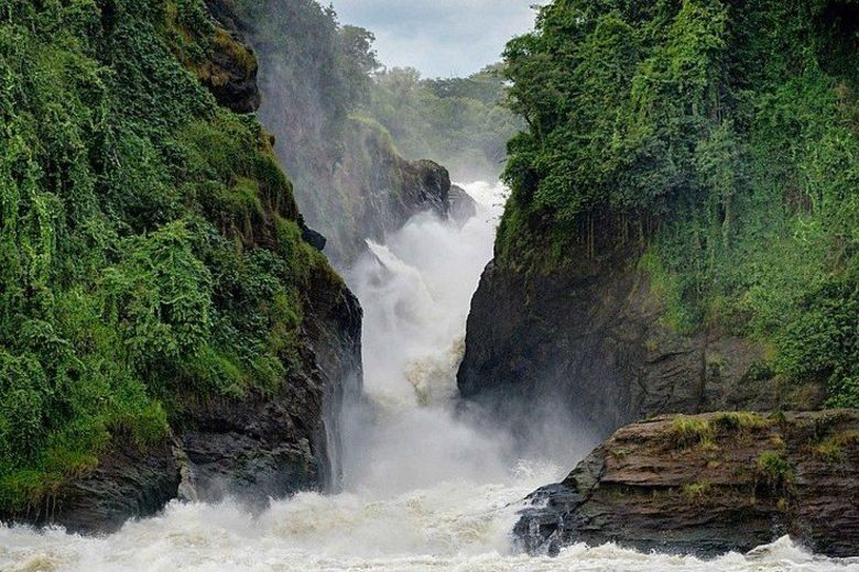 Nejužší místo Murchisonových vodopádů