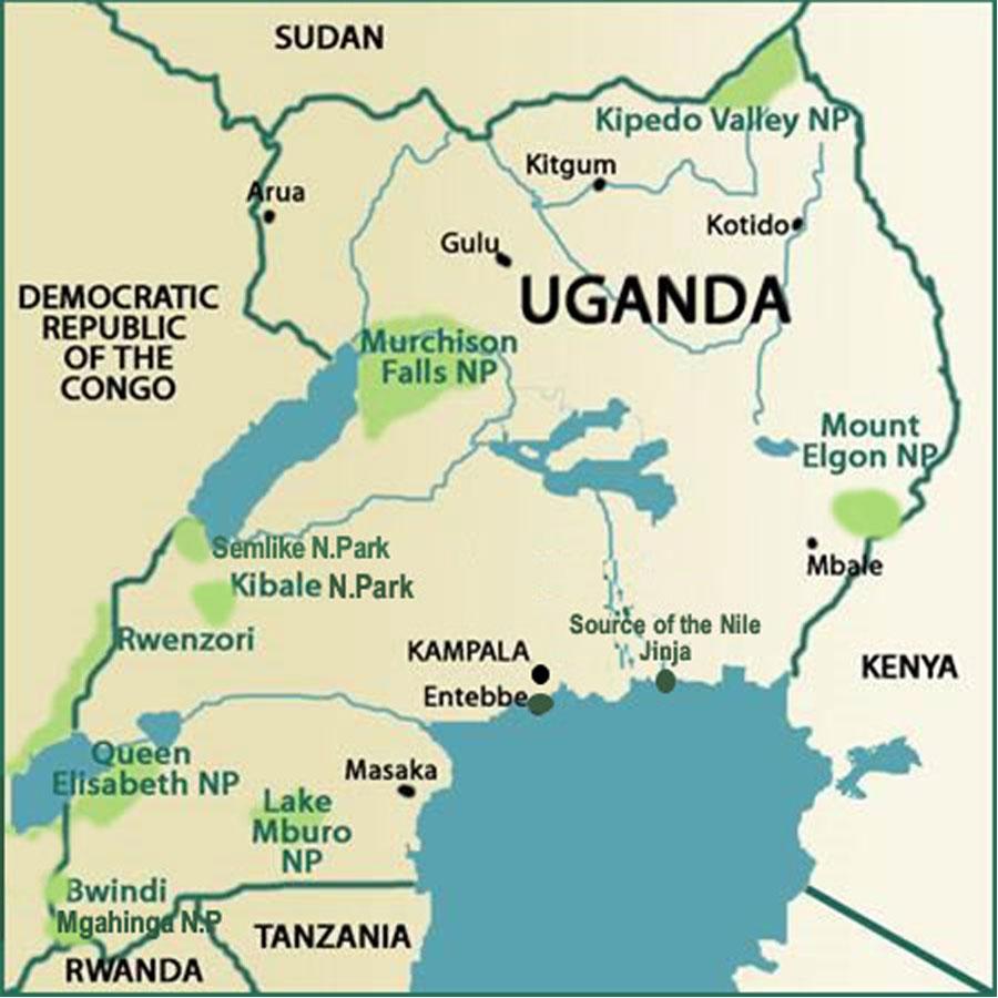 Národní parky v Ugandě