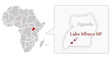 Národní park Lake Mburo - poloha na mapě Ugandy
