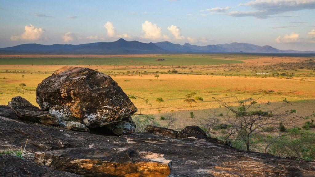 Scenérie národního parku Kidepo Valley